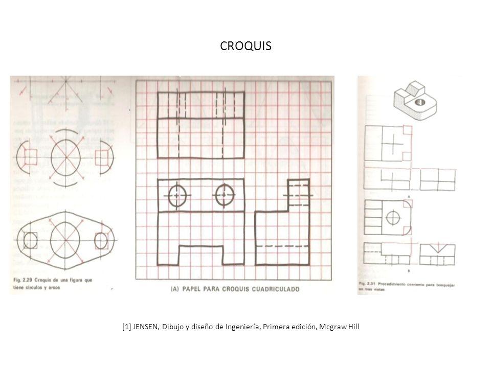 CROQUIS [1] JENSEN, Dibujo y diseño de Ingeniería, Primera edición, Mcgraw Hill